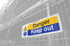 Danger Keep Out sign Royalty Free Stock Photos
