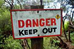 Danger keep out sign Royalty Free Stock Images