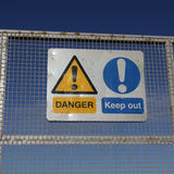Danger keep out signs Royalty Free Stock Photo