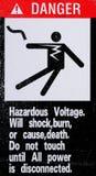 Danger label Royalty Free Stock Image