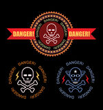 Danger  label Stock Photo