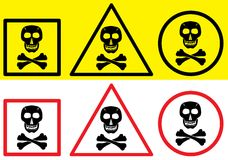 Danger label - skull symbol. Royalty Free Stock Photo
