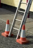 Danger, ladder Stock Photography