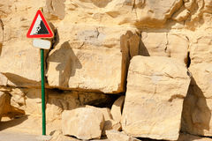 Danger, landslide! Royalty Free Stock Images
