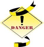 Danger logo Royalty Free Stock Photo