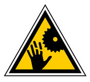 Danger machine sign Stock Photo