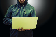 Danger man hacker stock image