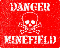Danger Minefield Stock Images
