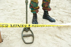 Danger mines Stock Images