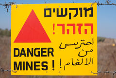 Danger mines Stock Image