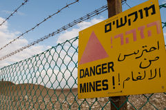 Danger mines! Royalty Free Stock Images