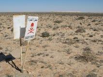 Danger Mines!!! Stock Image