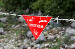 Danger mines Royalty Free Stock Photography
