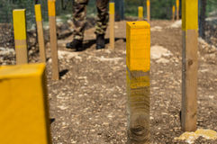 Danger mines. Minefields in the blue line in lebanon Royalty Free Stock Photography