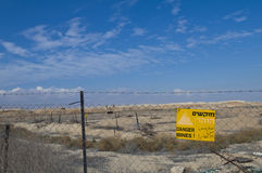 Danger Mines sign Stock Images