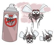Danger of mosquitoes - STOP mosquito - dead mosquitoes Stock Images