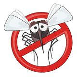 Danger of mosquitoes - STOP mosquito. Stop mosquito! Ideal as a prohibition sign during outbreaks of pestilent insects Stock Photography