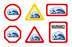 Danger nature - wave breaker Stock Image