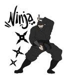 Danger ninja illustration Royalty Free Stock Image