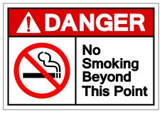 Danger No Smoking Beyond This Point Symbol Sign, Vector Illustration, Isolate On White Background Label. EPS10. Danger No Smoking Beyond This Point Symbol Sign stock illustration