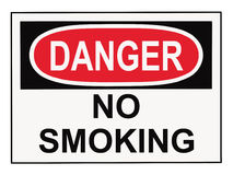 Danger No Smoking Sign Royalty Free Stock Photos