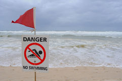 Danger- No Swimming Royalty Free Stock Image