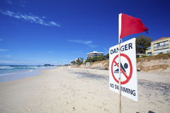 Danger No Swimming Stock Images