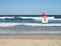 Danger - No Swimming sign Royalty Free Stock Image
