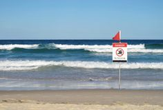 Danger - No Swimming sign Stock Photography