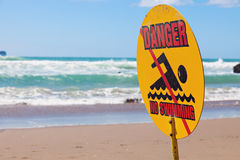 Danger - no swimming Royalty Free Stock Image