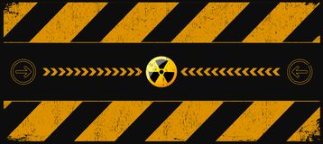 Danger nucléaire illustration stock