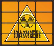 Danger nuclear Stock Image