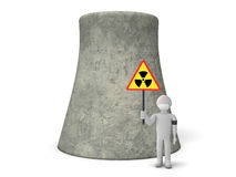 Danger Nuclear Power. Protest against the Nuclear Power Stock Image