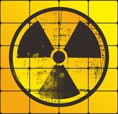 Danger nuclear yellow Royalty Free Stock Image