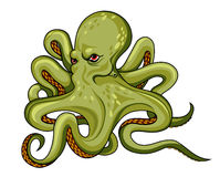 Danger octopus Royalty Free Stock Photos