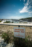 Danger Open Pit Sign Stock Photography