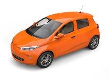 Danger orange modern electric eco car Royalty Free Stock Images