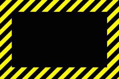 Danger ou frontière de panneau d'avertissement avec les rayures noires et jaunes et illustration stock