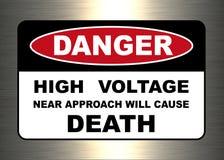 Danger, panneau d'avertissement illustration libre de droits