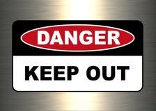 Danger, panneau d'avertissement illustration stock