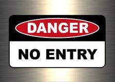 Danger, panneau d'avertissement illustration de vecteur