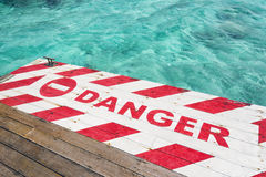 Danger in Paradise Royalty Free Stock Photography