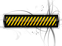 Danger pattern. Vector danger pattern black on white background Stock Photos
