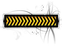Danger pattern. Vector danger pattern black on white background Royalty Free Stock Photo