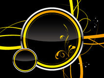 Danger pattern. Vector danger pattern black with yellow background Stock Photos
