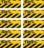 Danger percent banner Royalty Free Stock Photos
