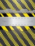 Danger perforated Royalty Free Stock Image