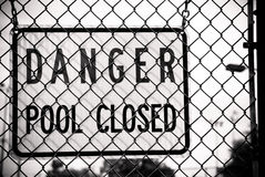 Danger Pool Closed Sign. A sign that states  Danger Pool Closed Royalty Free Stock Photography
