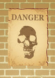 Danger poster Royalty Free Stock Photo