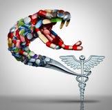 Danger pour la santé de médicament illustration stock